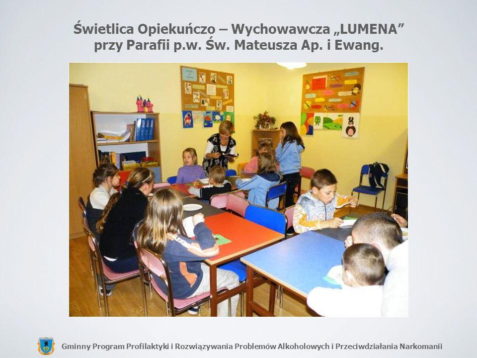 """Świetlica Opiekuńczo – Wychowawcza """"LUMENA przy Parafii p. w. Św"""