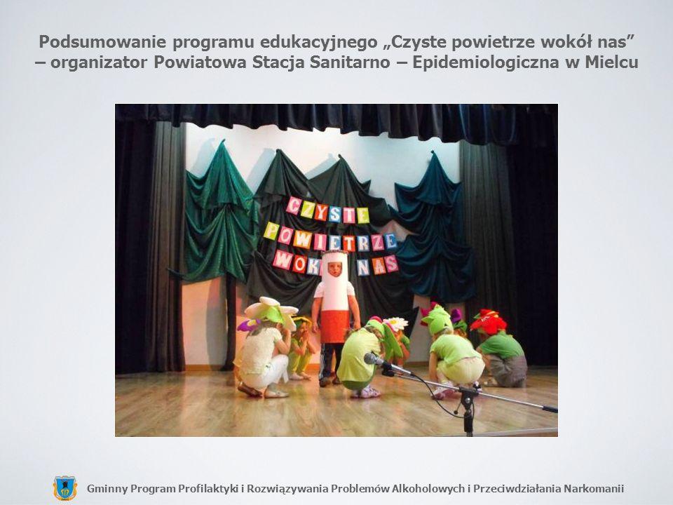 """Podsumowanie programu edukacyjnego """"Czyste powietrze wokół nas – organizator Powiatowa Stacja Sanitarno – Epidemiologiczna w Mielcu"""