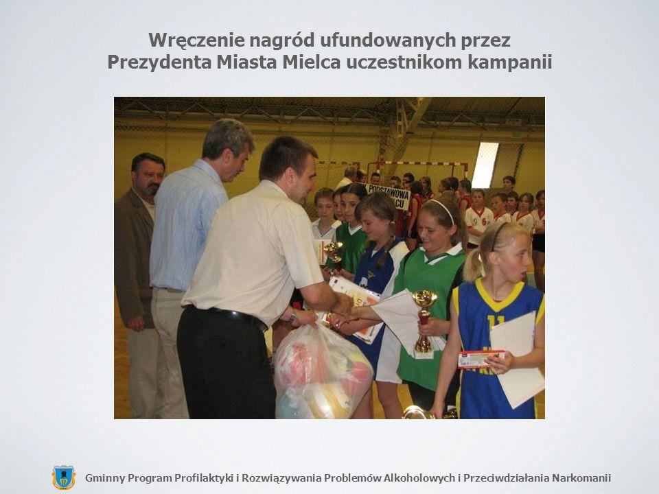 Wręczenie nagród ufundowanych przez Prezydenta Miasta Mielca uczestnikom kampanii
