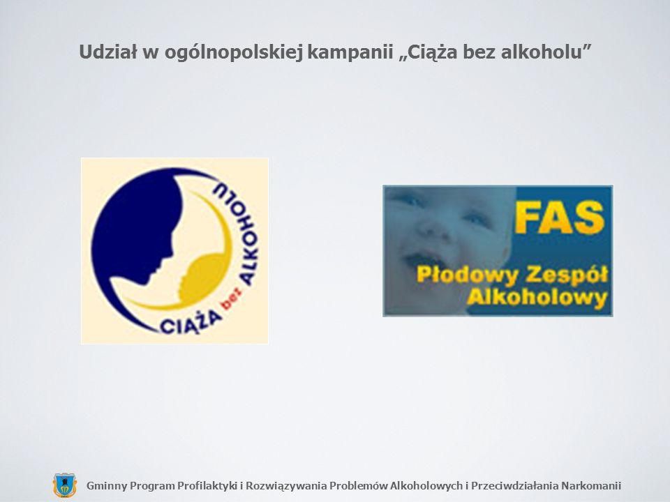 """Udział w ogólnopolskiej kampanii """"Ciąża bez alkoholu"""