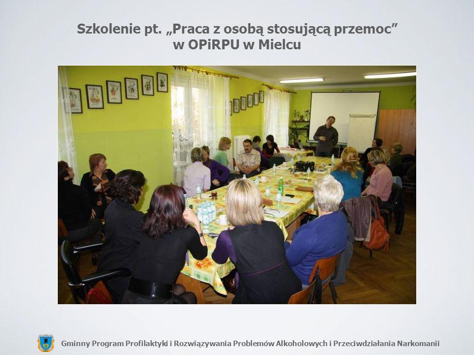 """Szkolenie pt. """"Praca z osobą stosującą przemoc w OPiRPU w Mielcu"""