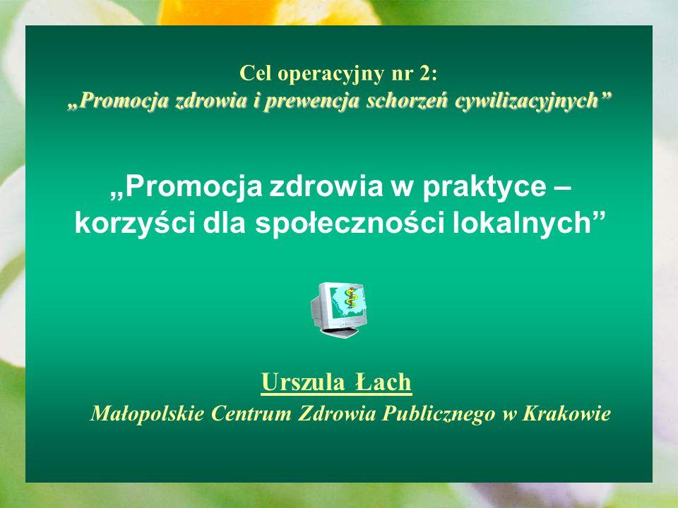 """""""Promocja zdrowia w praktyce – korzyści dla społeczności lokalnych"""