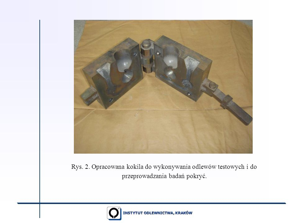 Rys. 2. Opracowana kokila do wykonywania odlewów testowych i do