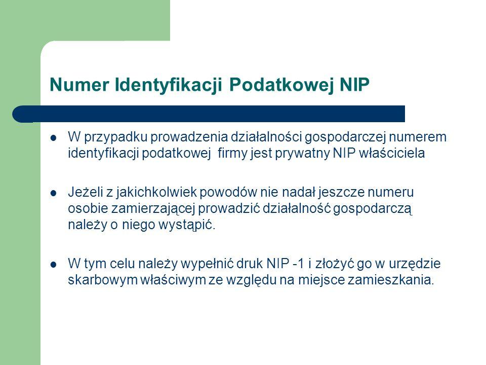 Numer Identyfikacji Podatkowej NIP