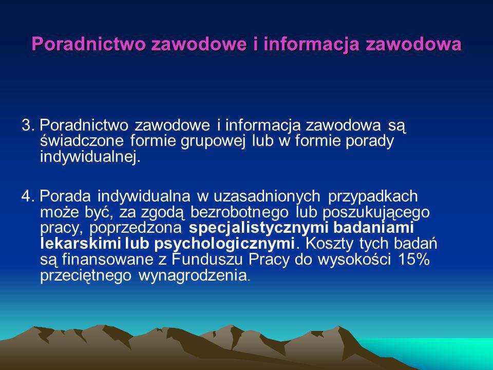 Poradnictwo zawodowe i informacja zawodowa