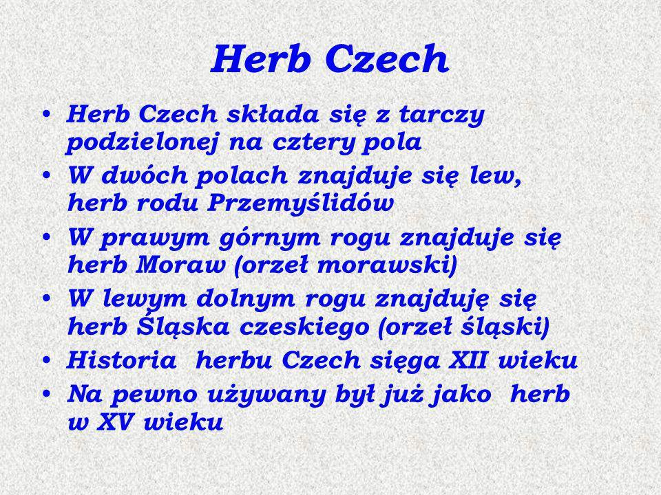 Herb Czech Herb Czech składa się z tarczy podzielonej na cztery pola