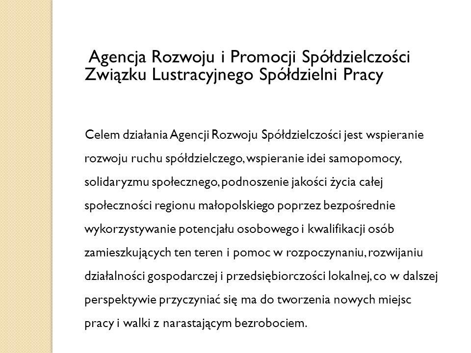 Agencja Rozwoju i Promocji Spółdzielczości Związku Lustracyjnego Spółdzielni Pracy