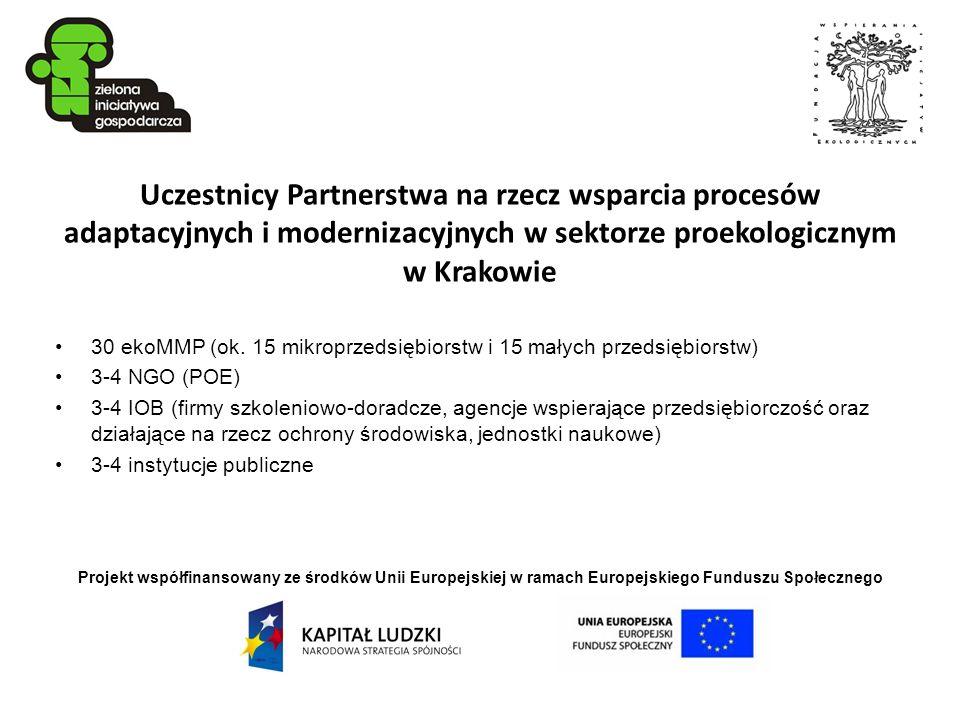 Uczestnicy Partnerstwa na rzecz wsparcia procesów adaptacyjnych i modernizacyjnych w sektorze proekologicznym w Krakowie