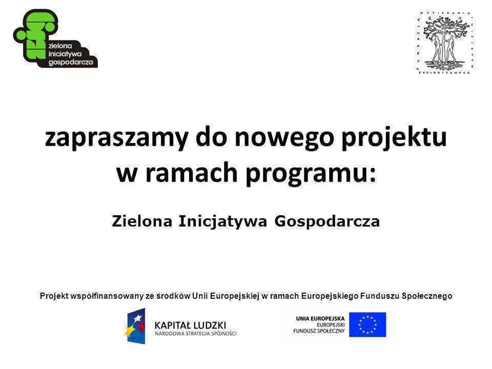zapraszamy do nowego projektu w ramach programu: