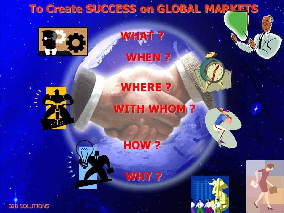 To Create SUCCESS on GLOBAL MARKETS