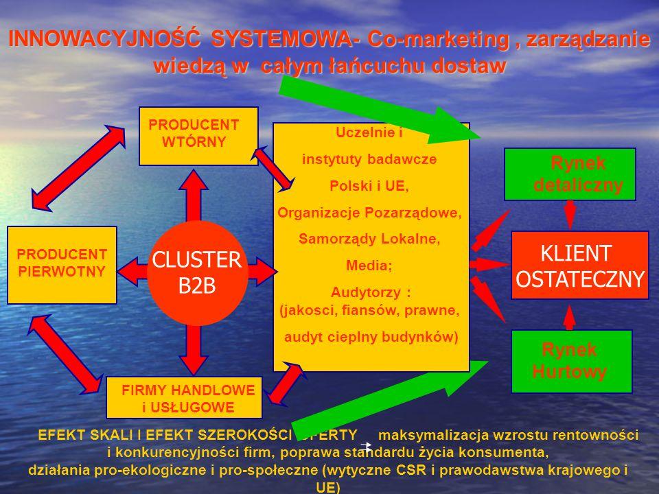 INNOWACYJNOŚĆ SYSTEMOWA- Co-marketing , zarządzanie wiedzą w całym łańcuchu dostaw