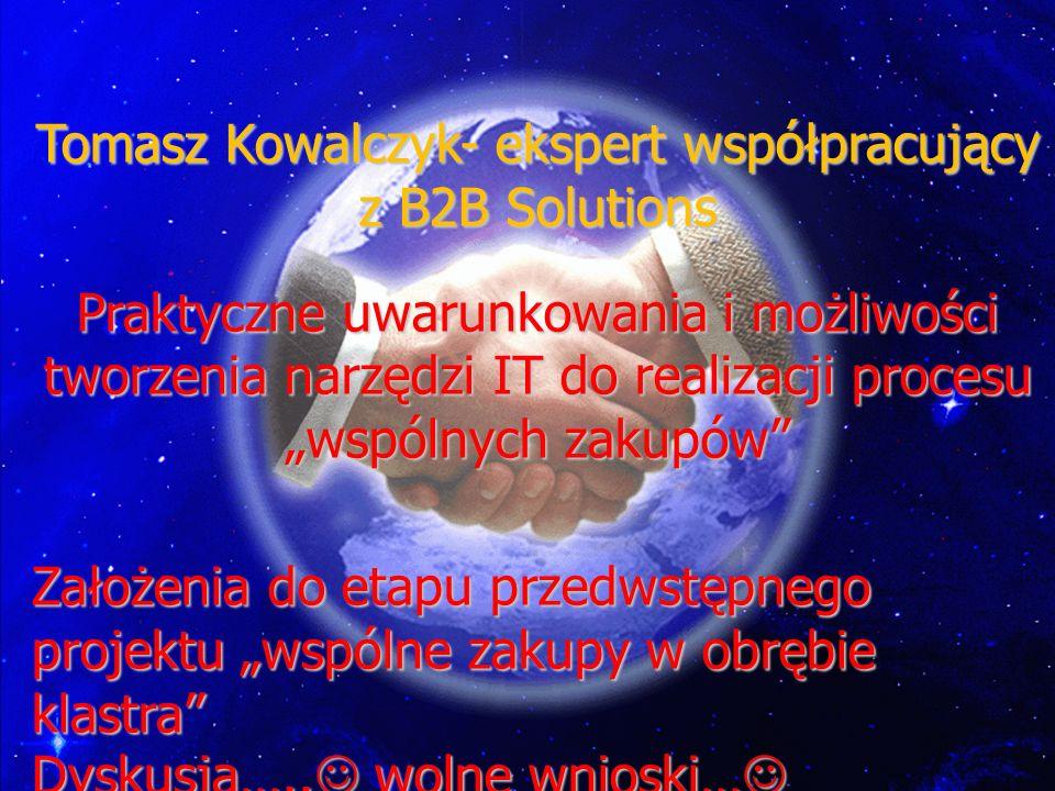 Tomasz Kowalczyk- ekspert współpracujący z B2B Solutions
