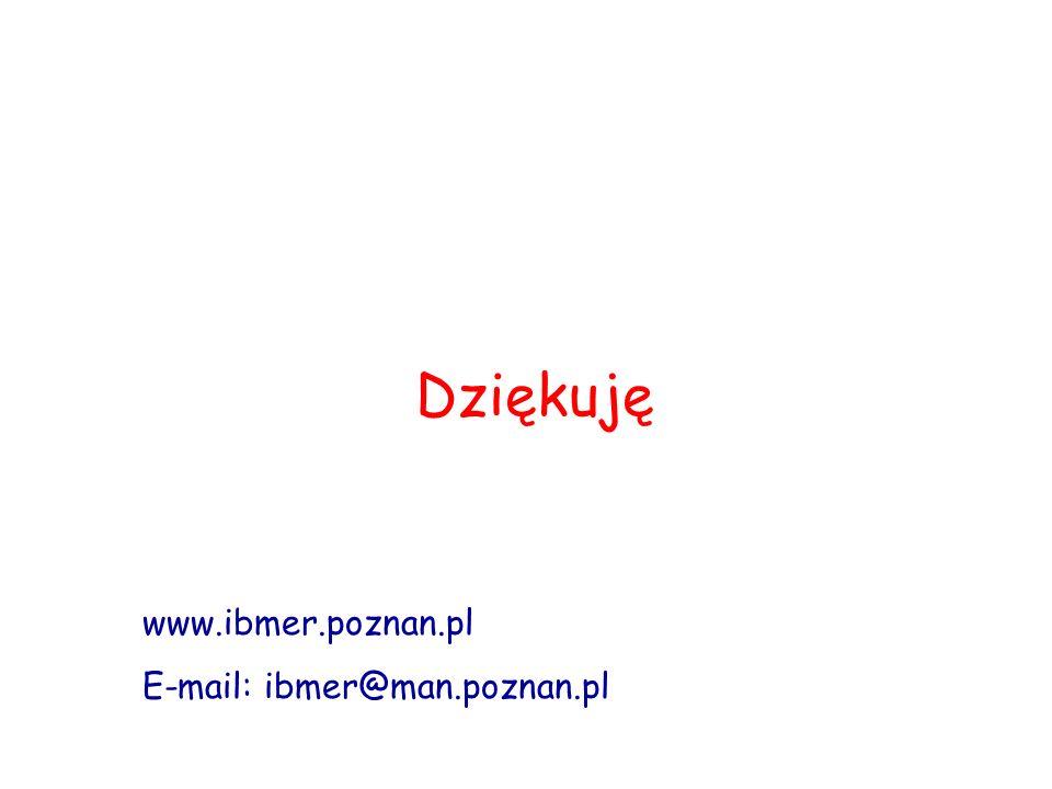 Dziękuję www.ibmer.poznan.pl E-mail: ibmer@man.poznan.pl