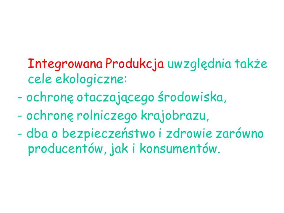 Integrowana Produkcja uwzględnia także cele ekologiczne: