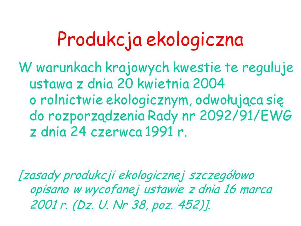 Produkcja ekologiczna