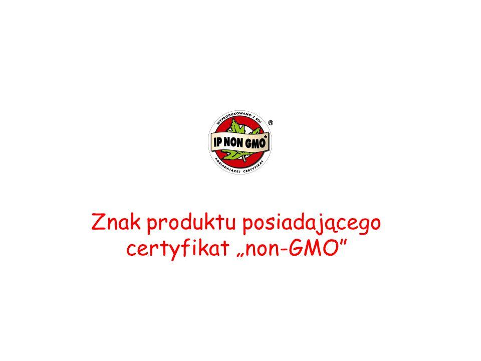 """Znak produktu posiadającego certyfikat """"non-GMO"""