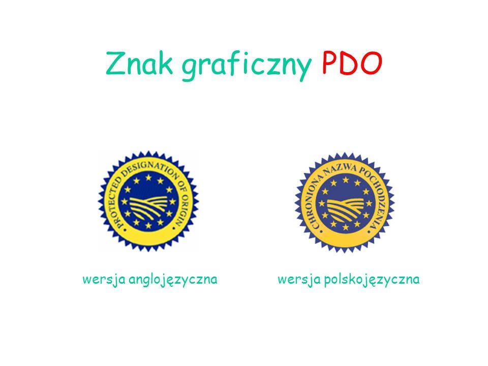 Znak graficzny PDO wersja anglojęzyczna wersja polskojęzyczna