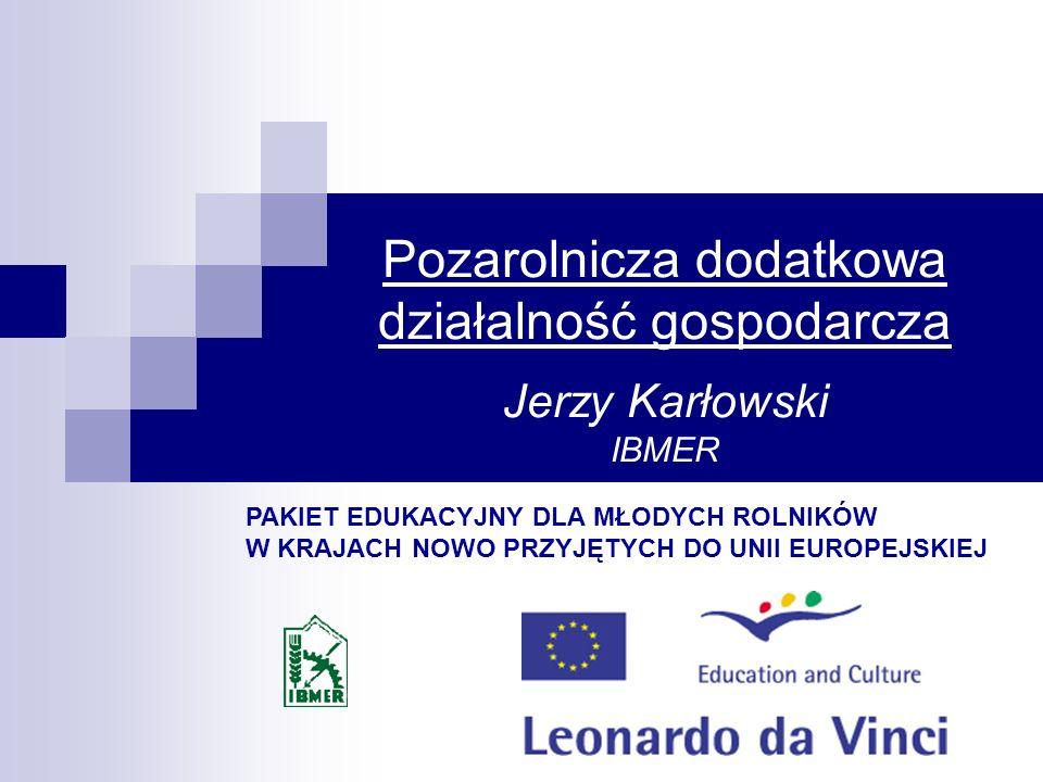 Pozarolnicza dodatkowa działalność gospodarcza Jerzy Karłowski IBMER