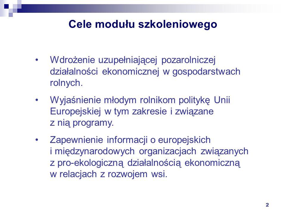 Cele modułu szkoleniowego