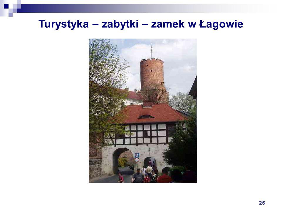 Turystyka – zabytki – zamek w Łagowie
