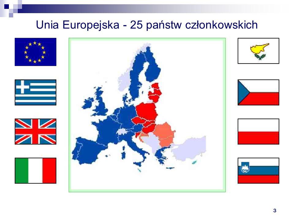 Unia Europejska - 25 państw członkowskich