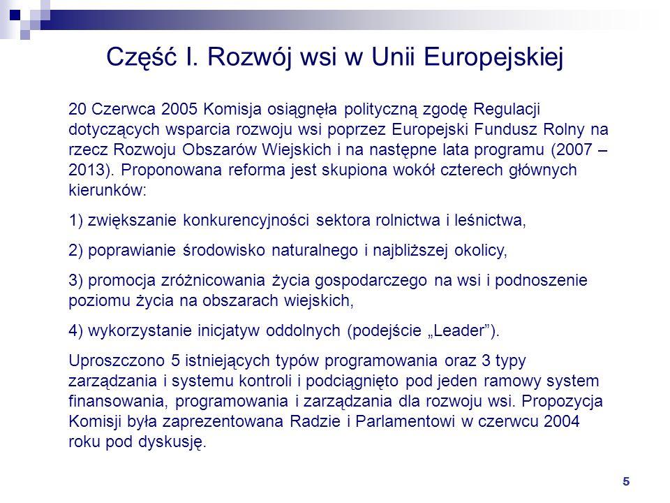 Część I. Rozwój wsi w Unii Europejskiej