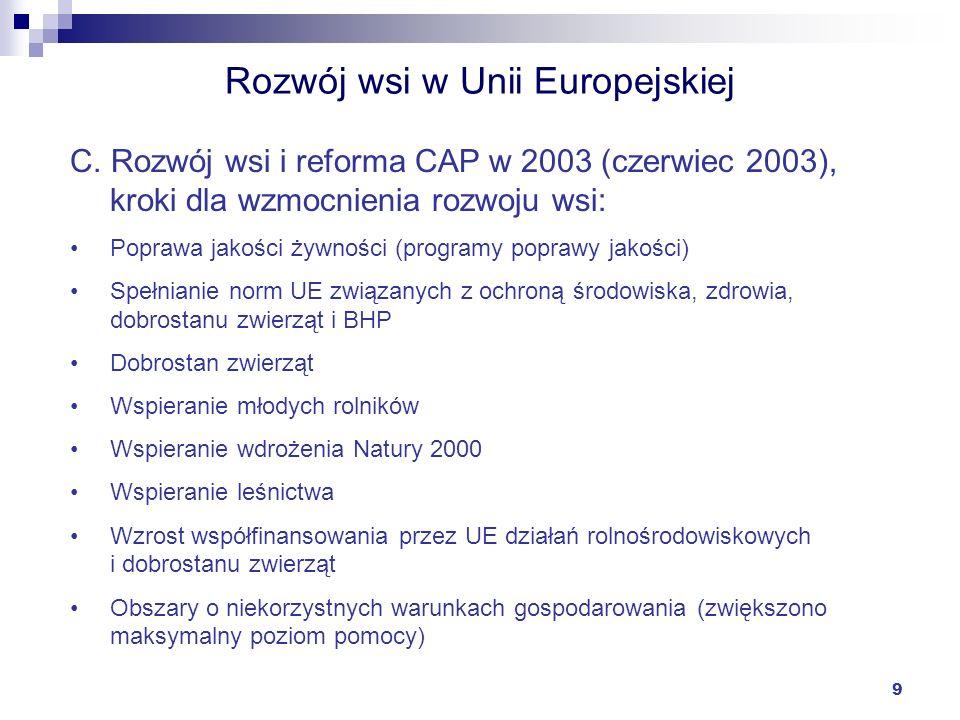 Rozwój wsi w Unii Europejskiej