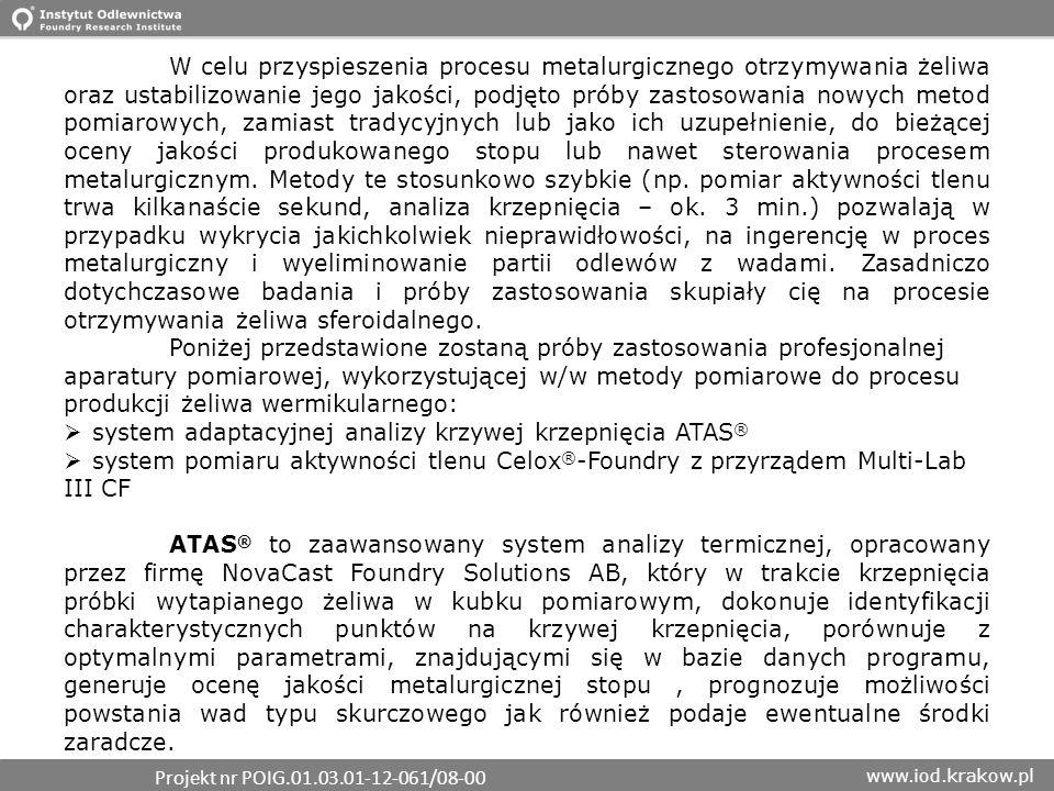 system adaptacyjnej analizy krzywej krzepnięcia ATAS®
