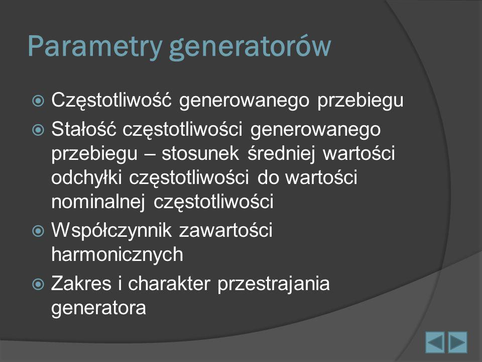Parametry generatorów