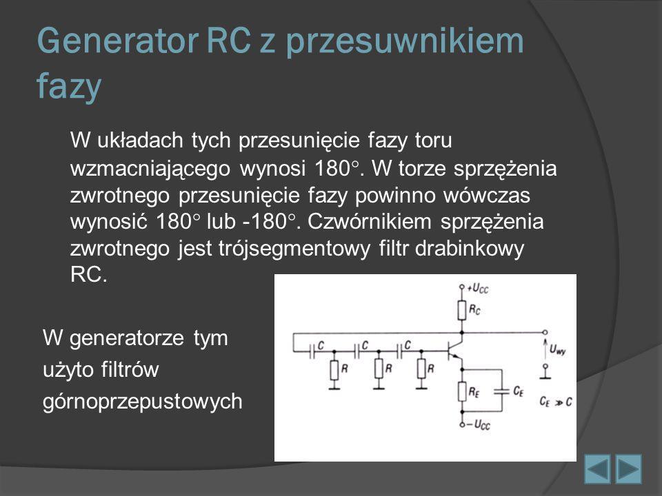 Generator RC z przesuwnikiem fazy