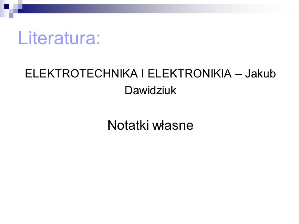 ELEKTROTECHNIKA I ELEKTRONIKIA – Jakub