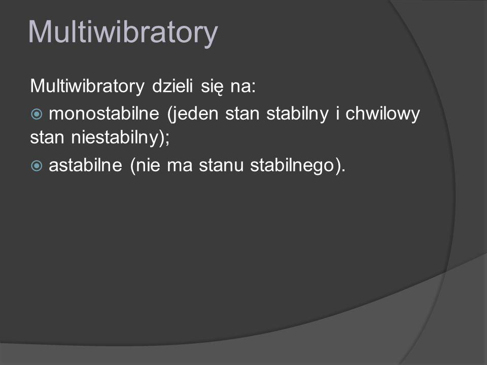 Multiwibratory Multiwibratory dzieli się na:
