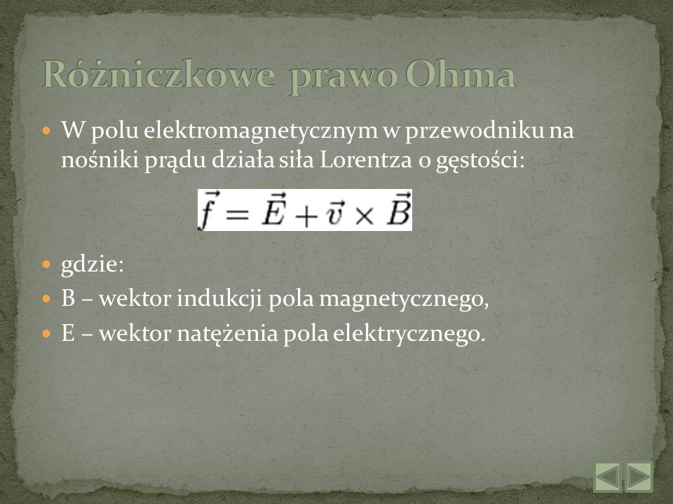 Różniczkowe prawo Ohma