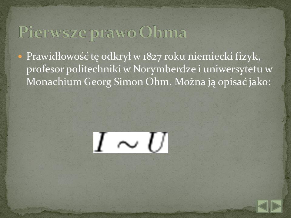Pierwsze prawo Ohma