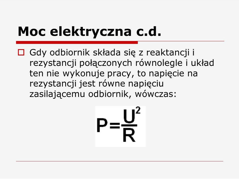 Moc elektryczna c.d.
