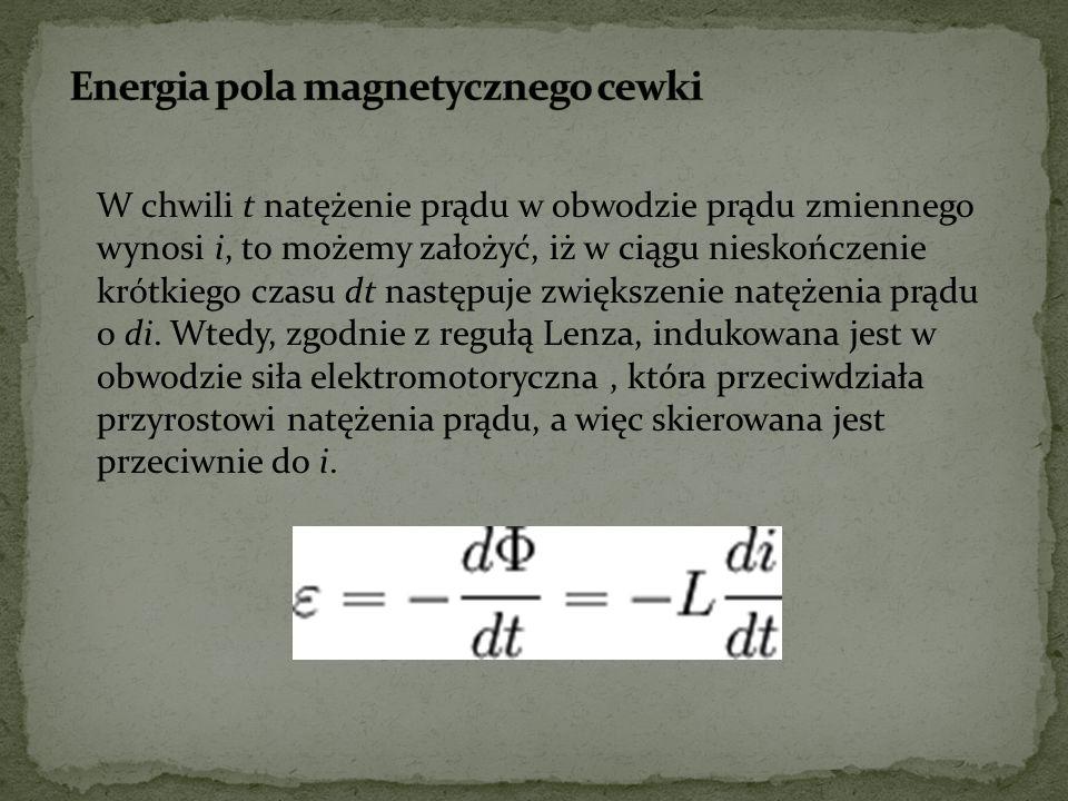 Energia pola magnetycznego cewki