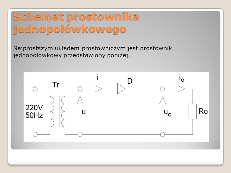 Schemat prostownika jednopołówkowego