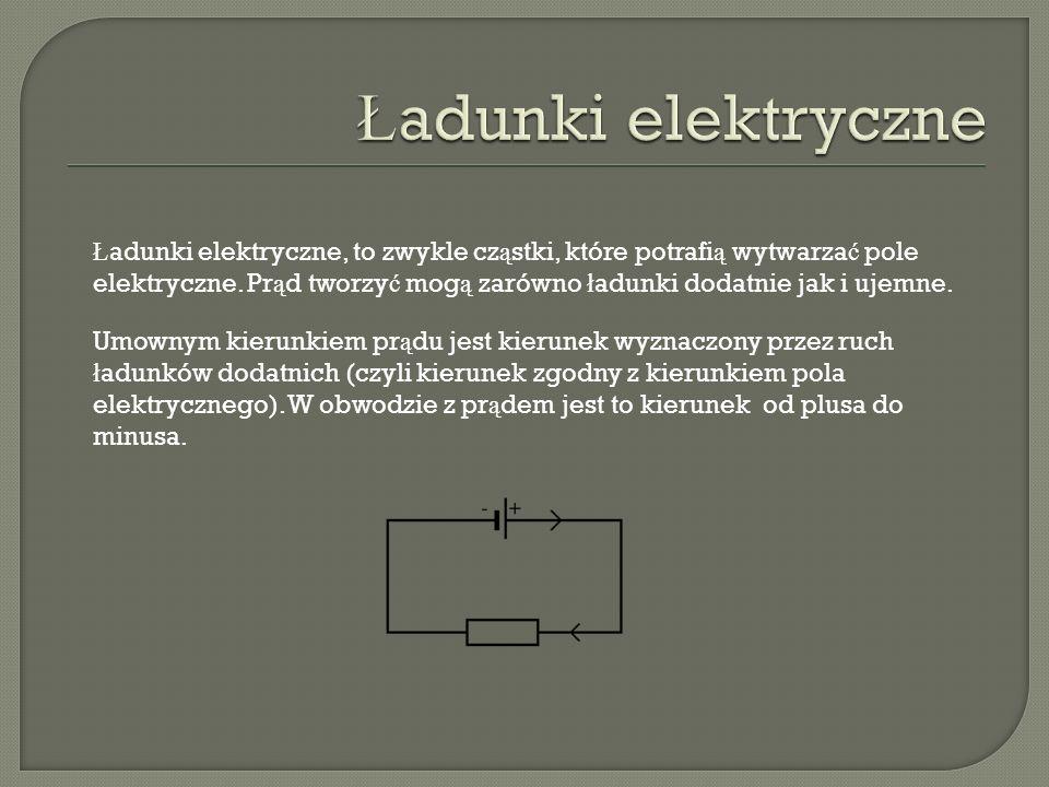 Ładunki elektryczne