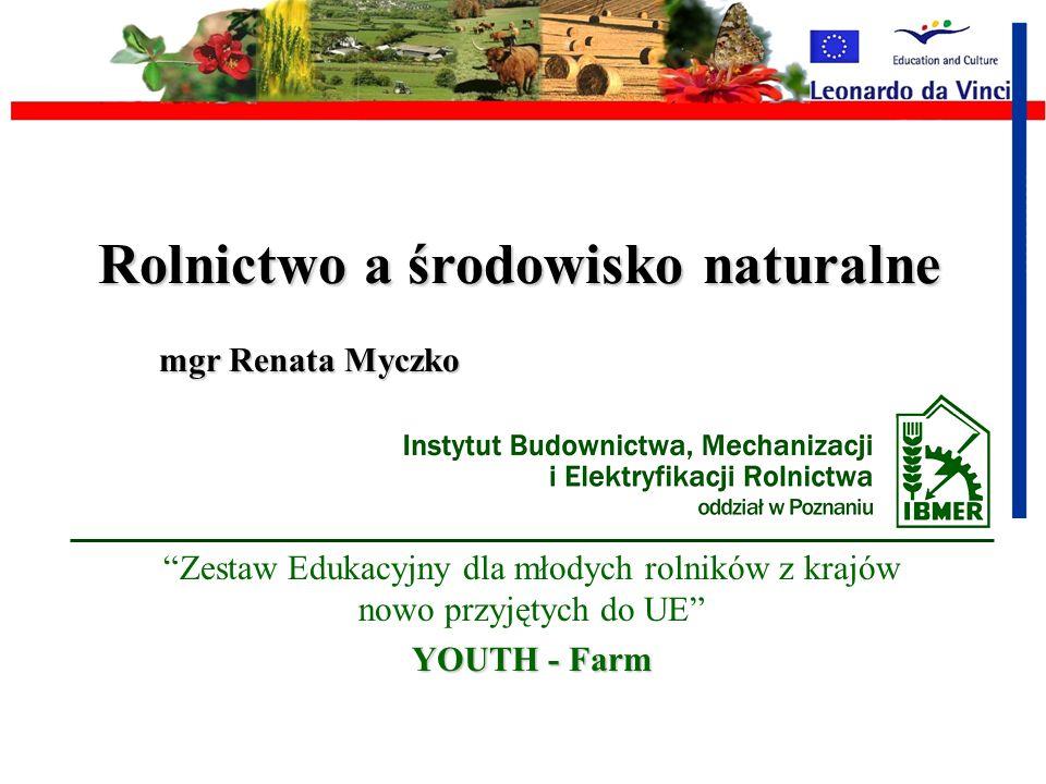 Rolnictwo a środowisko naturalne mgr Renata Myczko