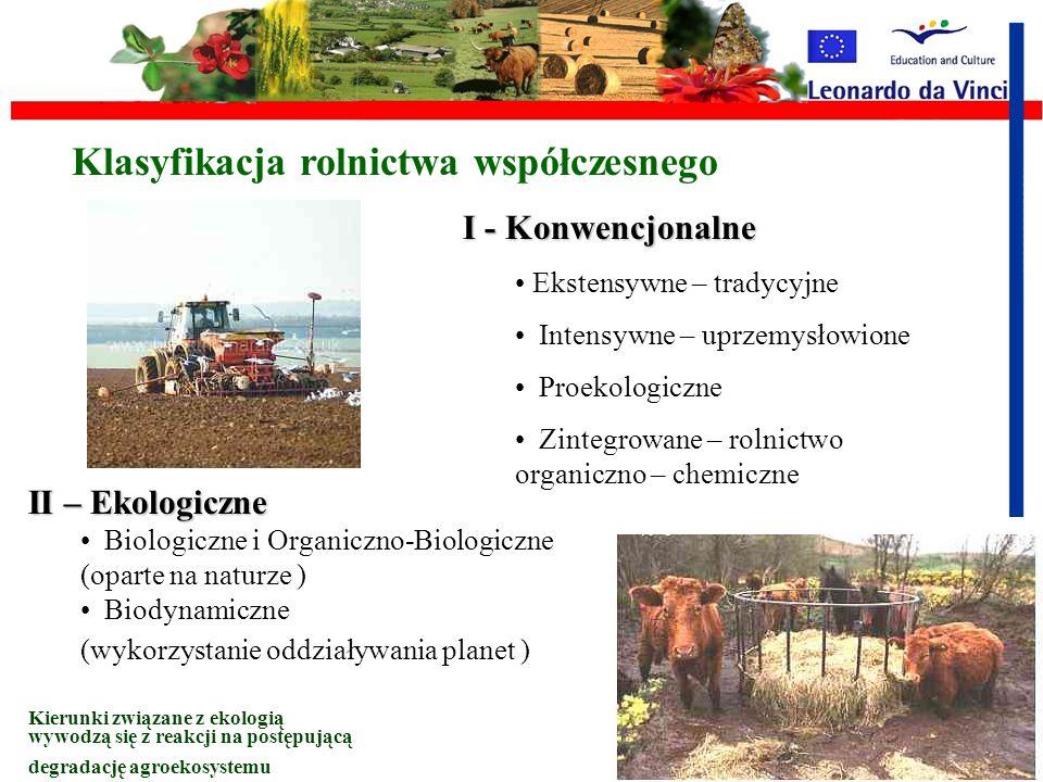 Klasyfikacja rolnictwa współczesnego