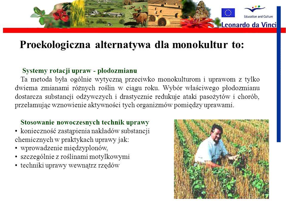 Proekologiczna alternatywa dla monokultur to: