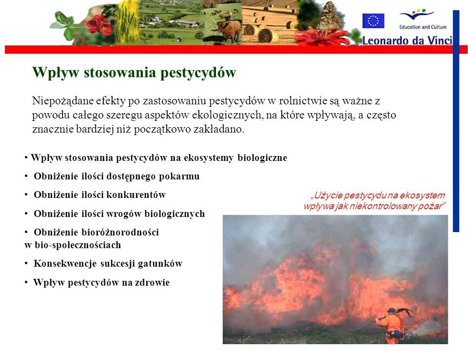 Wpływ stosowania pestycydów