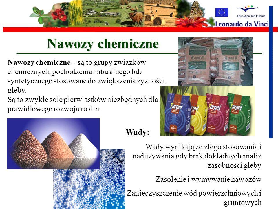 Nawozy chemiczne Wady: