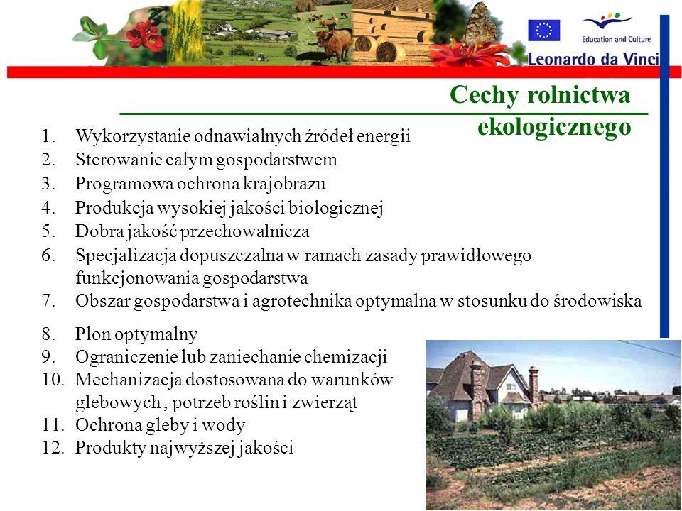 Cechy rolnictwa ekologicznego