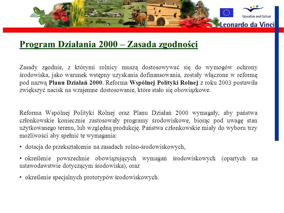 Program Działania 2000 – Zasada zgodności