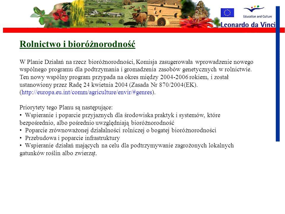 Rolnictwo i bioróżnorodność