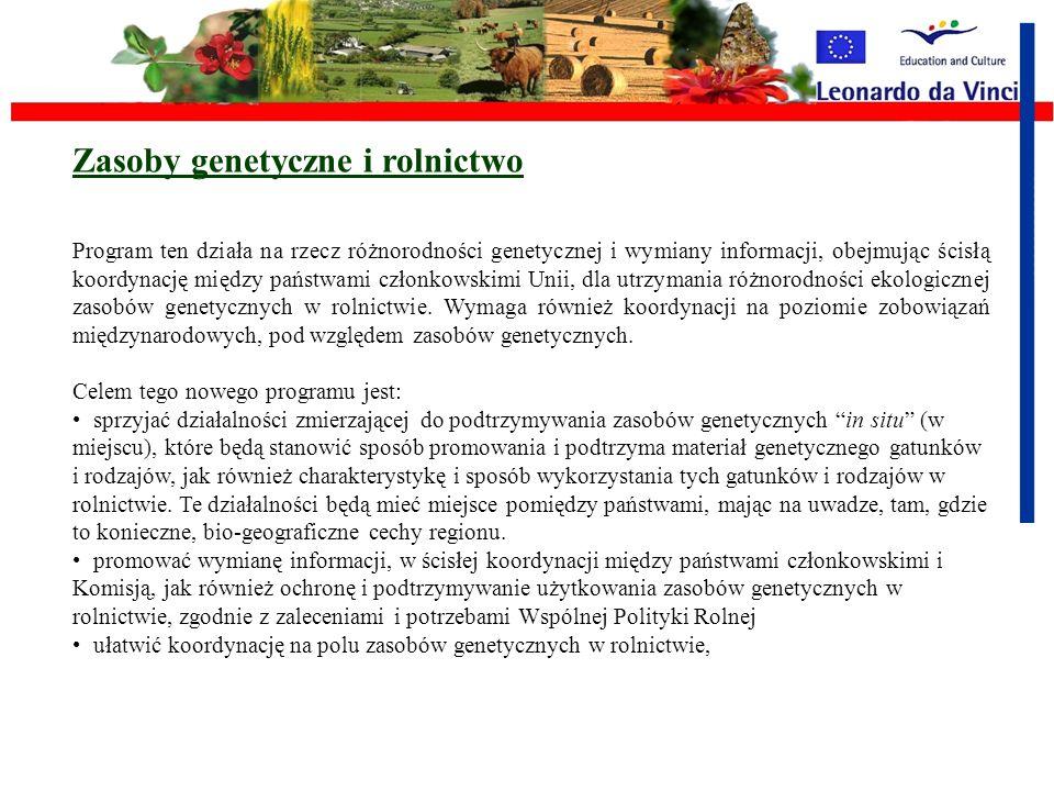 Zasoby genetyczne i rolnictwo