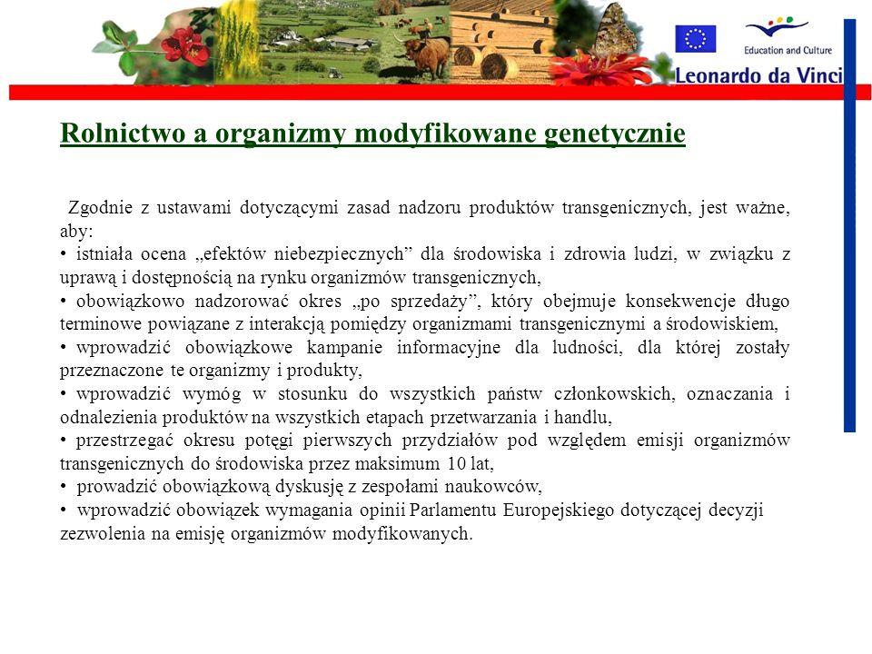 Rolnictwo a organizmy modyfikowane genetycznie