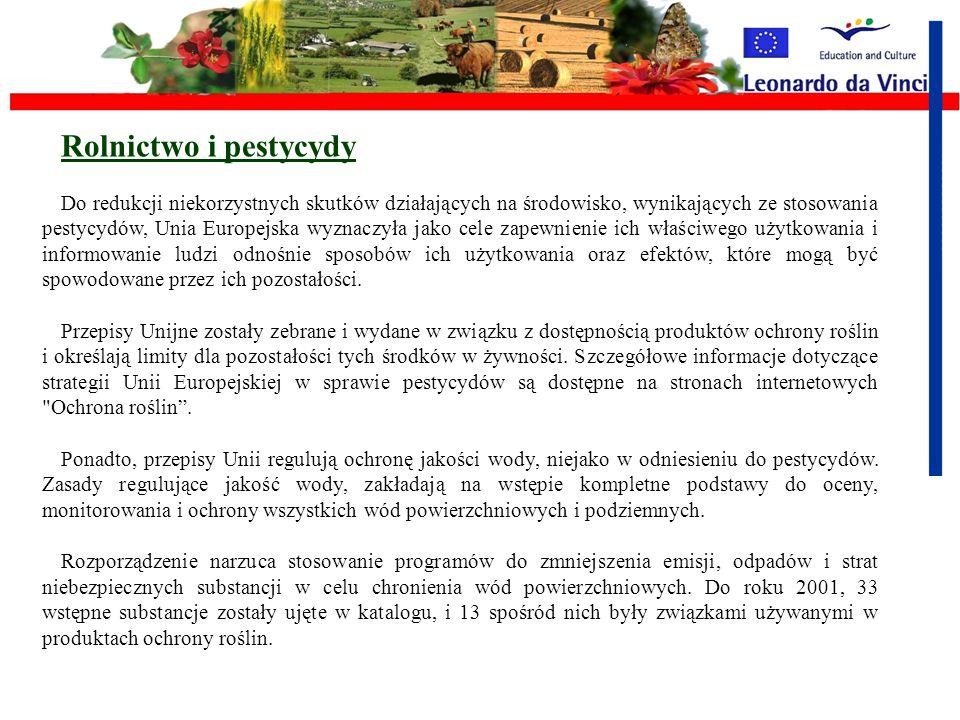 Rolnictwo i pestycydy