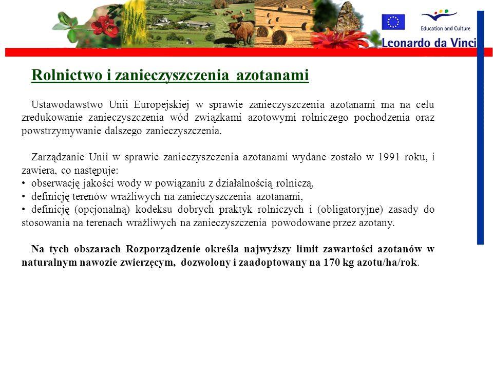 Rolnictwo i zanieczyszczenia azotanami